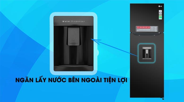 Tủ lạnh LG GN-D315BL 315 lít inverter , lấy nước bên ngoài tiện dụng