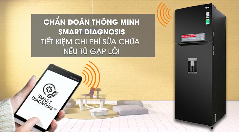 Tủ lạnh LG GN-D315BL 315 lít inverter, chuẩn đoán lỗi qua đt thông minh