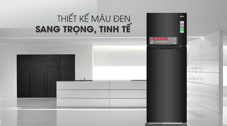 Tủ lạnh LG Inverter 208 lít GN-M208BL, thiết kế sang trọng