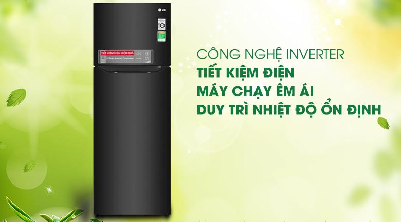 Tủ lạnh LG Inverter 208 lít GN-M208BL, inverter tiết kiệm điện