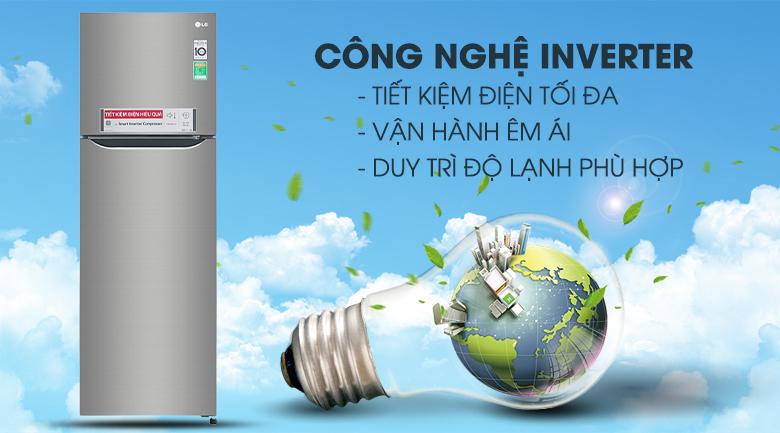 Tủ lạnh LG GN-M255PS inverter 255 lít, tiết kiệm điện inverter