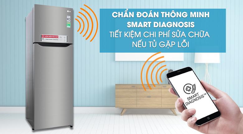 Tủ lạnh LG GN-M255PS inverter 255 lít, chuẩn đoán thông minh
