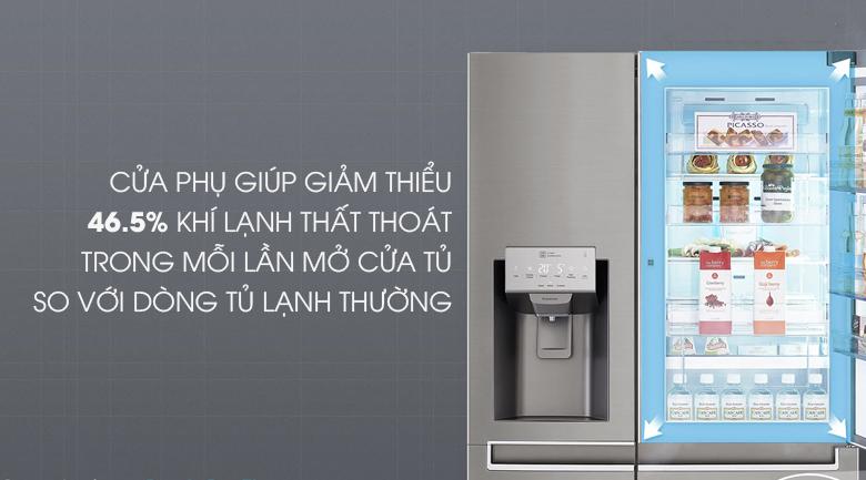 Tủ lạnh LG GR-P247JS Inverter 601 lít, cửa phụ