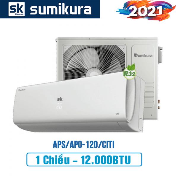 Điều hòa Sumikura 1 chiều 12000btu APS/APO-120/Citi - 2021