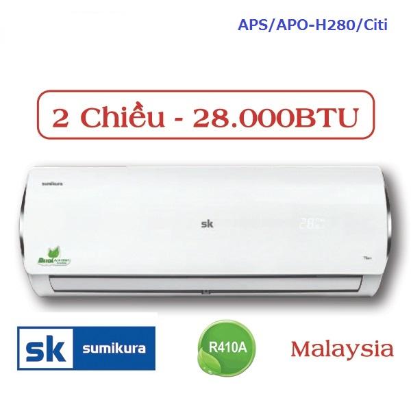 Máy lạnh Sumikura APS/APO-H280/Citi 2 chiều 28000btu