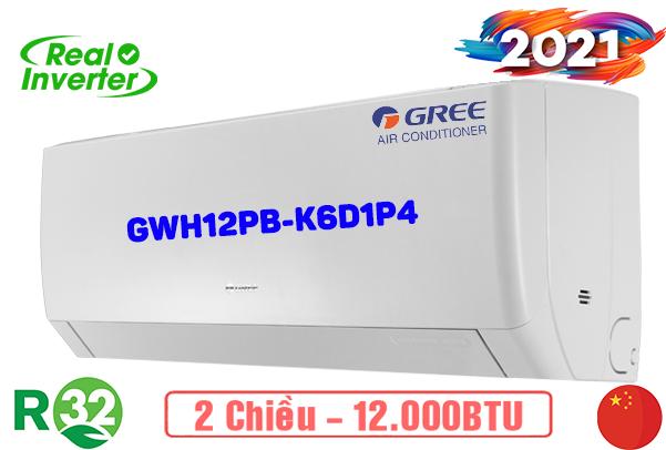 Điều hòa treo tường Gree 12000BTU 2 chiều inverter GWH12PB-K6D1P4 - 2021