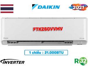 Điều hòa Daikin 21000BTU 1 chiều inverter FTKZ60VVMV