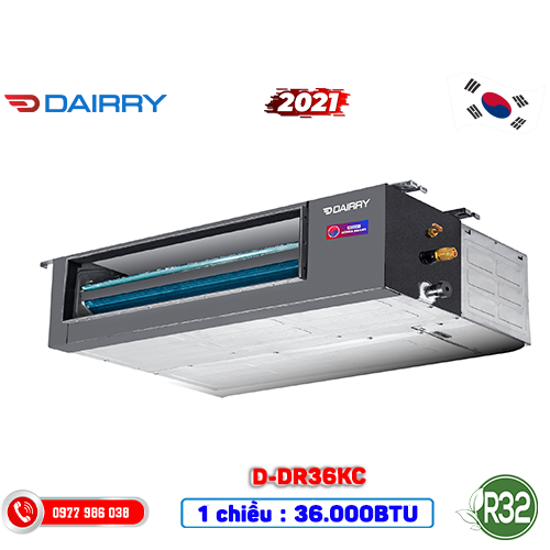 Điều hòa nối ông gió Dairry D-DR36KC 36.000BTU 1 chiều – 2021