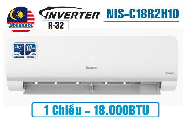Điều hòa Nagakawa 18.000BTU NIS-C18R2H10 1 chiều inverter