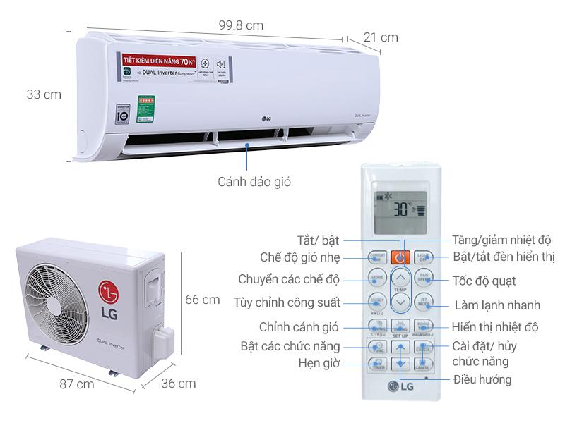 Thông số kỹ thuật điều hòa LG