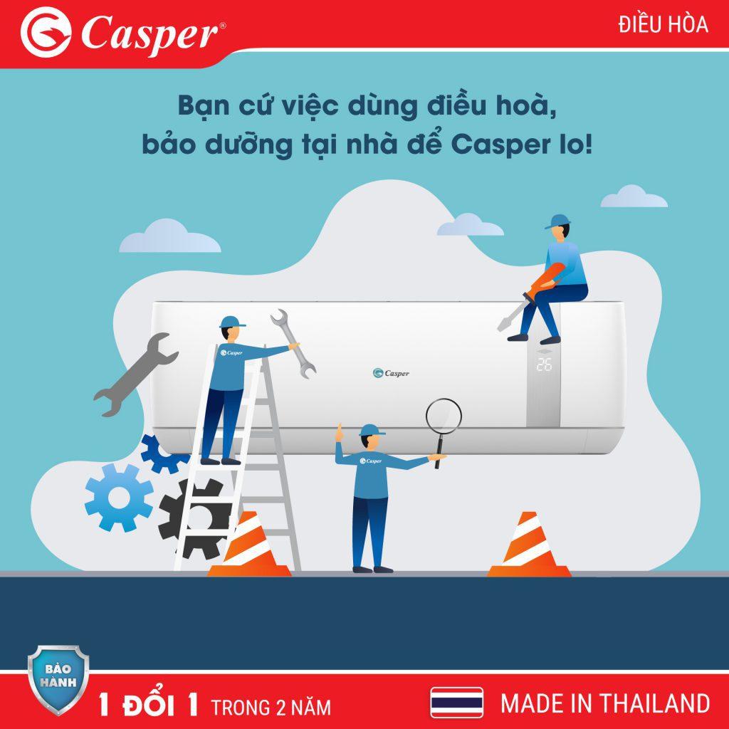 Bảo dưỡng điều hòa Casper 2021