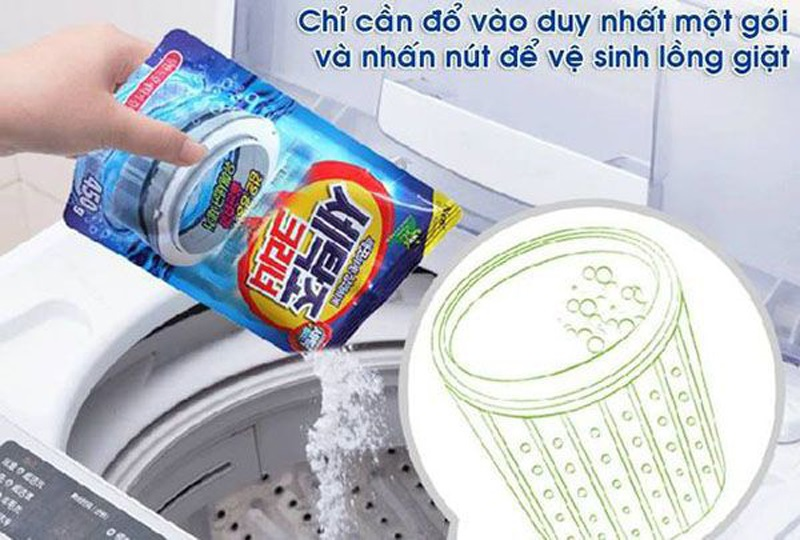 Bột vệ sinh máy giặt Sandokkaebi