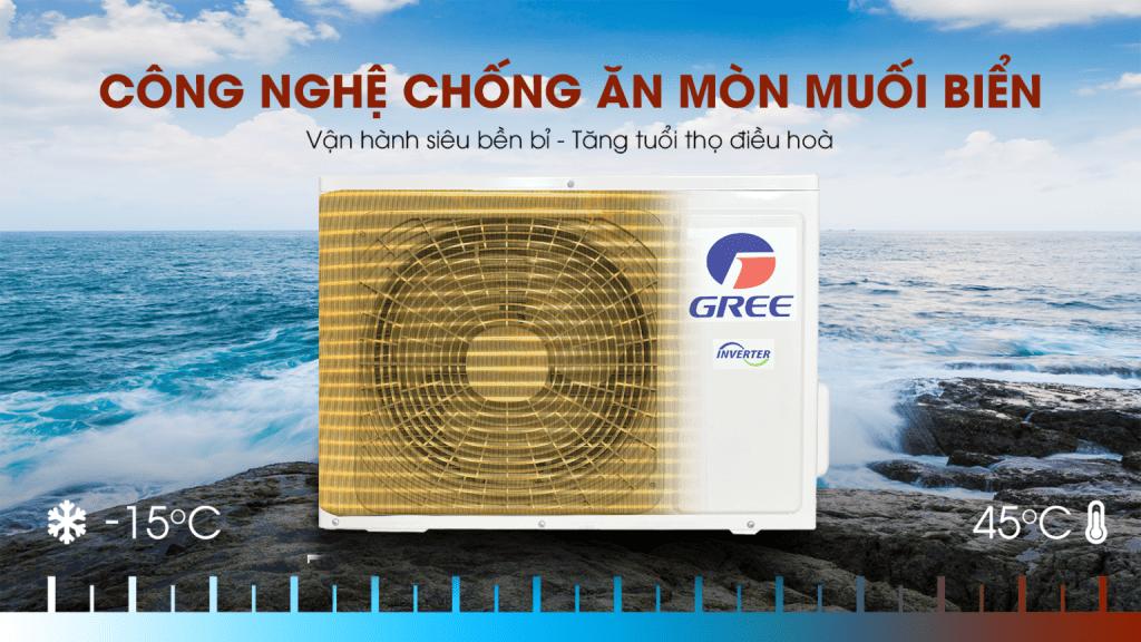 Điều hòa Gree - công nghệ chống ăn mòn muối biển