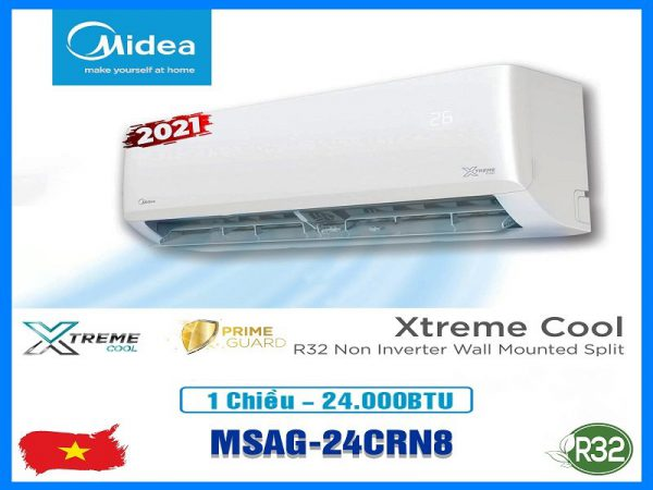 Điều hòa Midea 24000btu 1 chiều MSAG-24CRN8