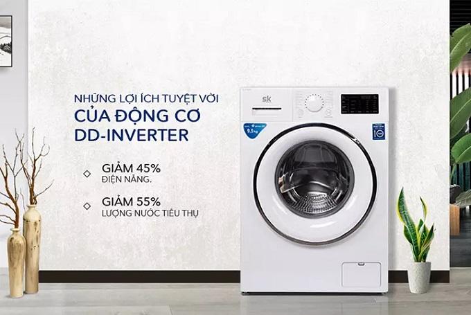 Máy giặt Sumikura Inverter SKWFID-108P1-Y/G lồng ngang (10.8KG)
