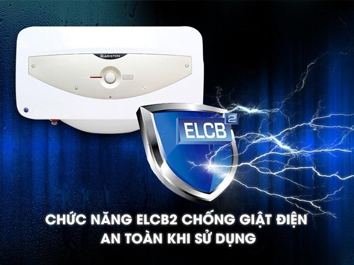 Bình nóng lạnh Ariston công nghệ ELCB2 chống giật điện