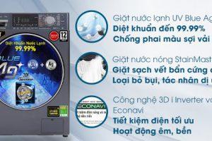 Máy giặt Panasonic giặt nước nóng StainMaster diệt khuẩn 99.99%