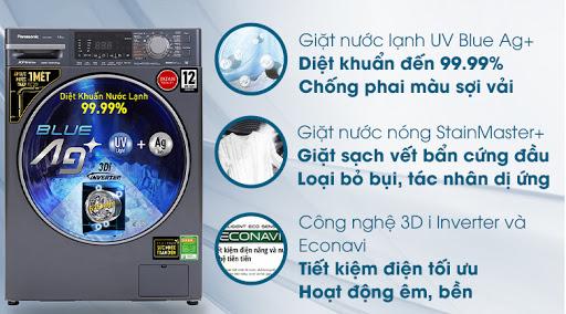 Máy giặt Panasonic giặt nước nóng StainMaster