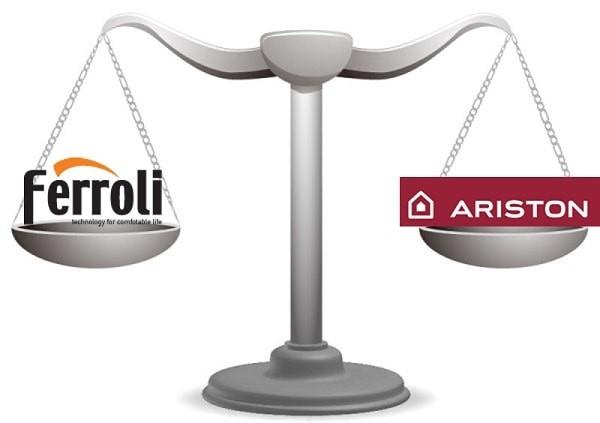 So sánh Ferroli và Ariston