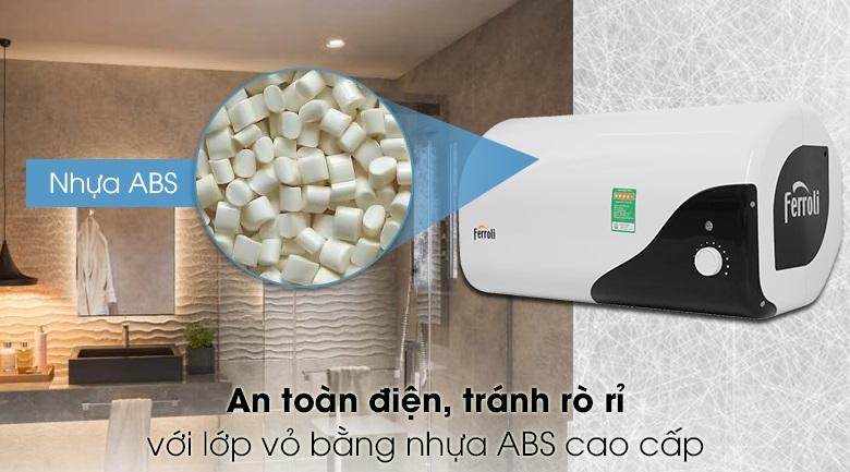 Vỏ bình Ferrolo được làm bằng nhựa ABS