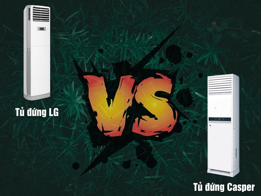 So sánh điều hòa tủ đứng Casper và tủ đứng LG