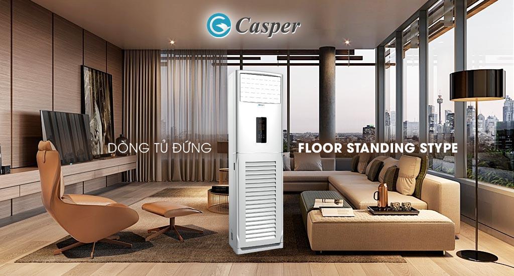 Điều hòa tủ đứng Casper 1 chiều công suất 48000Btu FC-48TL22