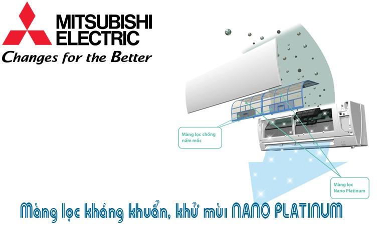 Công nghệ khử mùi kháng khuẩn Nano Platinum trên điều hòa Mitsubishi