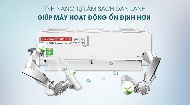 Máy lạnh LG V10ENW1 tự động làm sạch thông minh