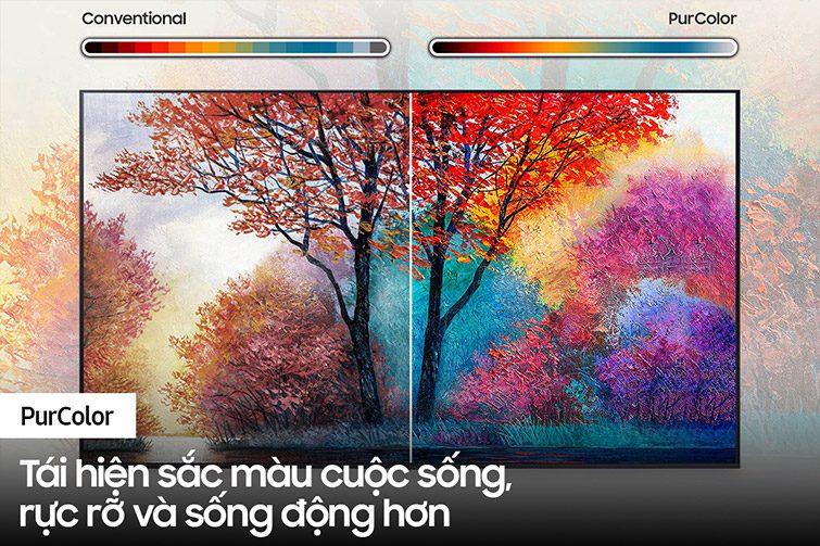 Tivi Samsung Crystal UHD 4K 43 inch 43AU7000 công nghệ  PurColor