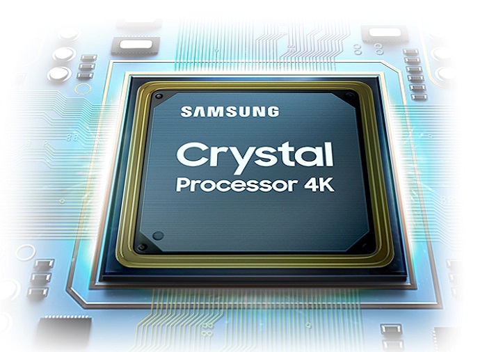 Crystal trên tivi samsung 43au9000