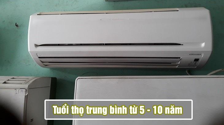 tuổi thọ trung bình của máy lạnh