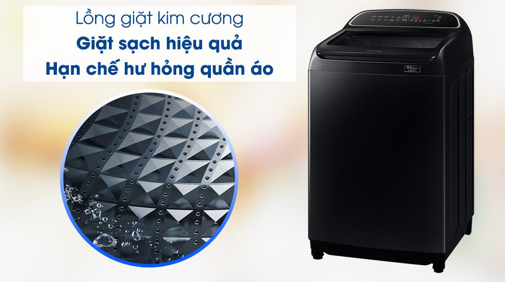 Máy giặt Samsung WA10T5260BV/SV, lồng giặt kim cương