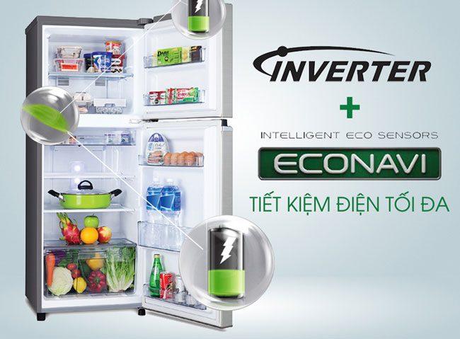 Tủ lạnh Panasonic NR-BA189PKVN Inverter 167L, tiết kiệm điện
