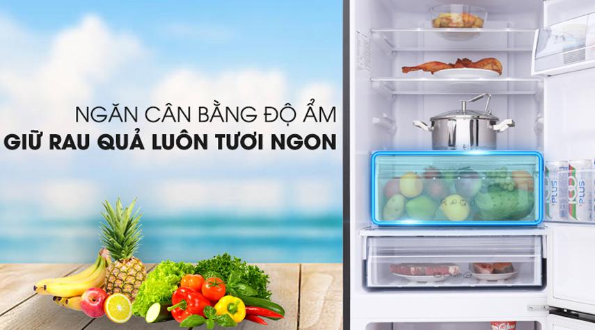 Tủ lạnh Panasonic NR-BX410QKVN Inverter 368L, ngăn trữ hoa quả