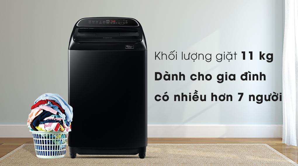 Máy giặt Samsung WA11T5260BV/SV, sang trọng khối lượng giặt 11kg