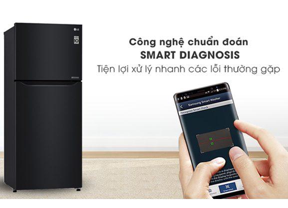 Tủ lạnh LG 209 lít Smart Inverter GN-B222WB, chuẩn đoán lỗi