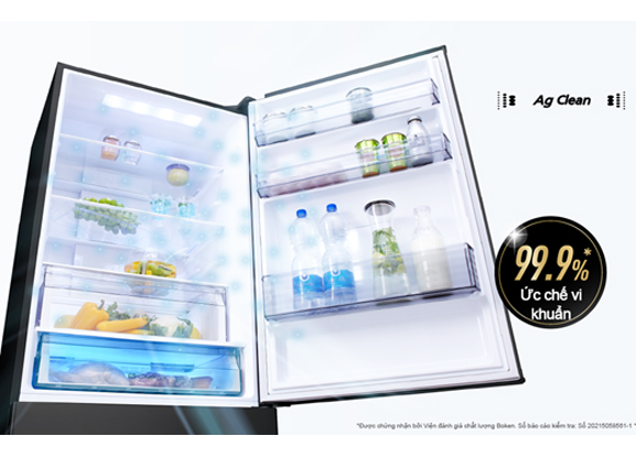 Tủ lạnh Panasonic NR-BX471WGKV Inverter 420L, khử mùi