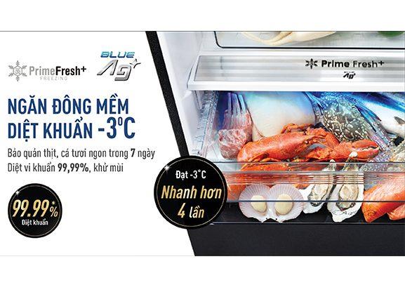 Tủ lạnh Panasonic NR-BX471WGKV Inverter 420L, ngăn đông mềm kháng khuẩn