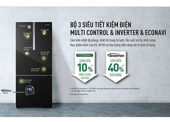Tủ lạnh Panasonic NR-BX471WGKV Inverter 420L, bộ 3 tiết kiệm điện