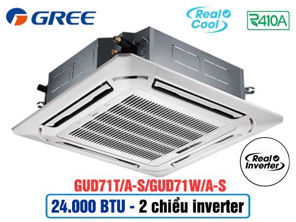 Điều hòa âm trần Gree GUD71T/A-S/GUD71W/A-S 2 chiều inverter