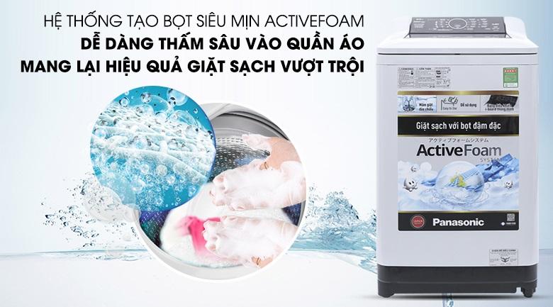 Hệ thống tạo bọt siêu mịn ActiveForm máy giặt Panasonic