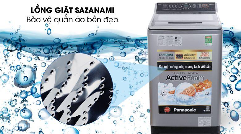 Lồng giặt Sazanami bảo vệ quàn áo bền đẹp