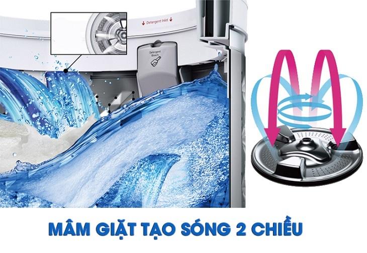 Mâm giặt tạo sóng 2 chiều