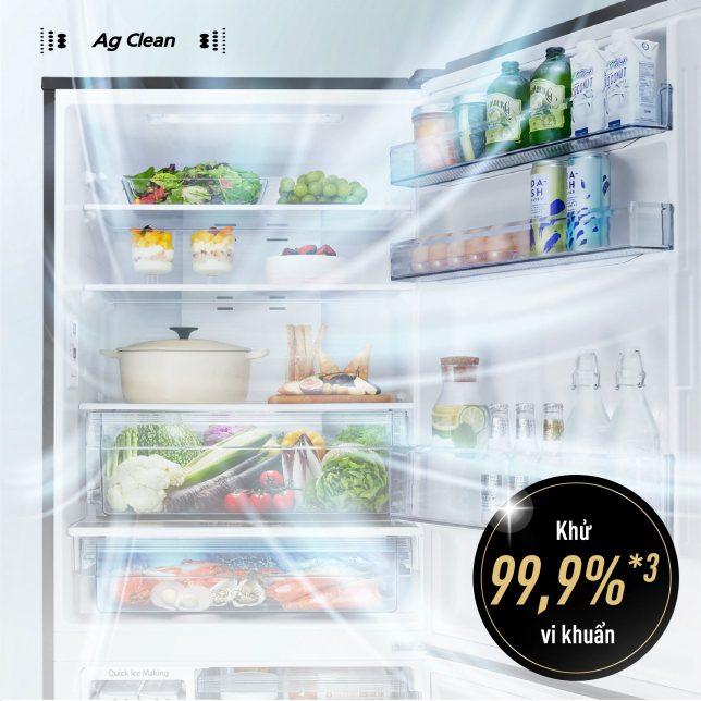 Tủ lạnh Panasonic NR-BX421WGKV 377L Inverter, kháng khuẩn