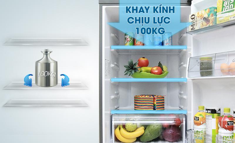 Tủ lạnh Panasonic NR-BX460GKVN inverter 410L, khay kính chịu lực