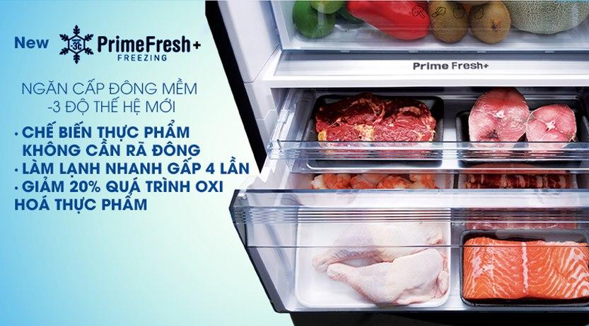 Tủ lạnh Panasonic Inverter 410L NR-BX460GKVN, ngăn đông mềm