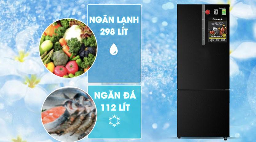 Tủ lạnh Panasonic NR-BX460XKVN Inverter 410L