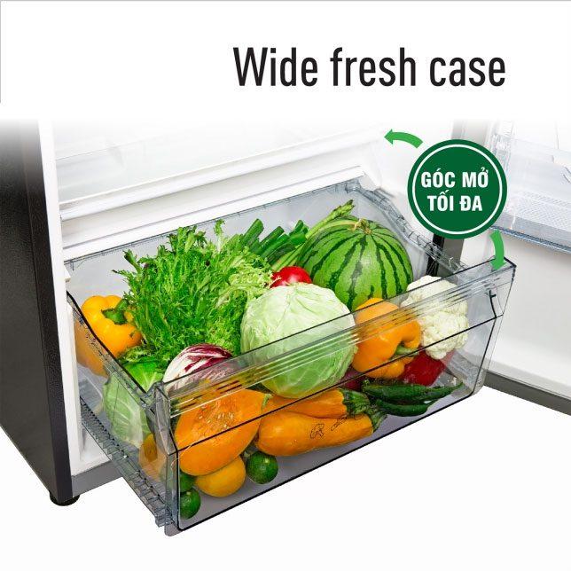 Tủ Lạnh Panasonic NR-TL381BPKV Inverter 366L, ngăn lưu trữ rau, củ