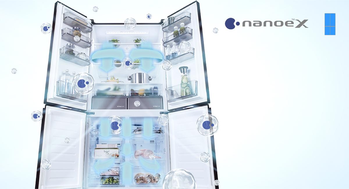 Tủ lạnh Panasonic NR-W631VC-T2 inverter 628L, Nano X diệt khuẩn