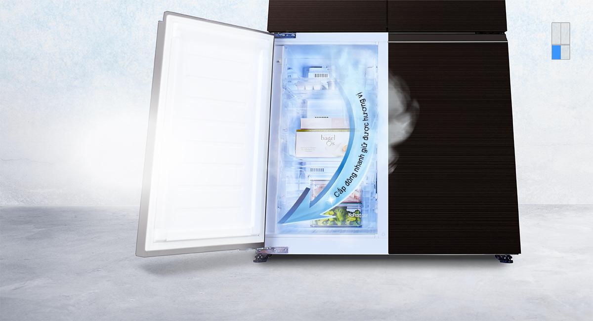 Tủ lạnh Panasonic NR-W631VC-T2 inverter 628L, cấp đông nhanh